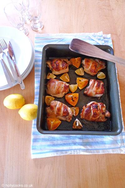 Type 1 Kitchenorange and lemon chicken in-tray
