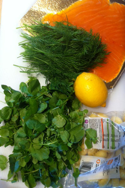 Holly-cooks-smoked-salmon-watercress-and-dill-gnocchi-ingredients