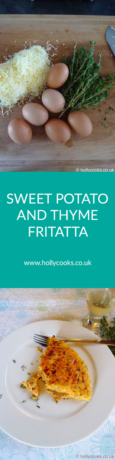 sweet potato and thyme frittata