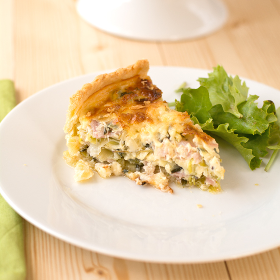 leek, bacon and thyme tart