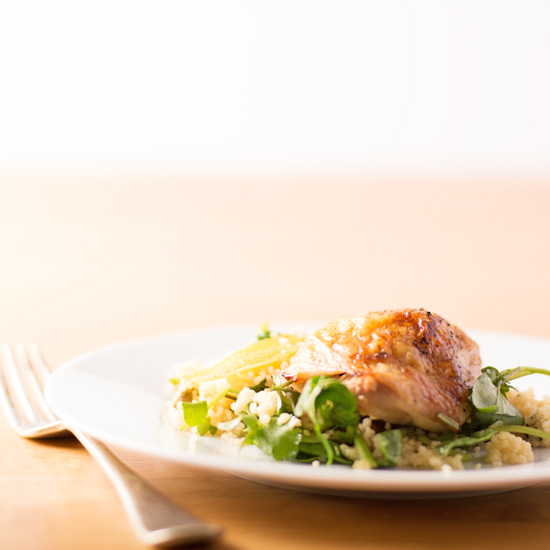 Holly-Cooks-roast-chicken-with-watercress-and-coriander-on-a-plateFG3