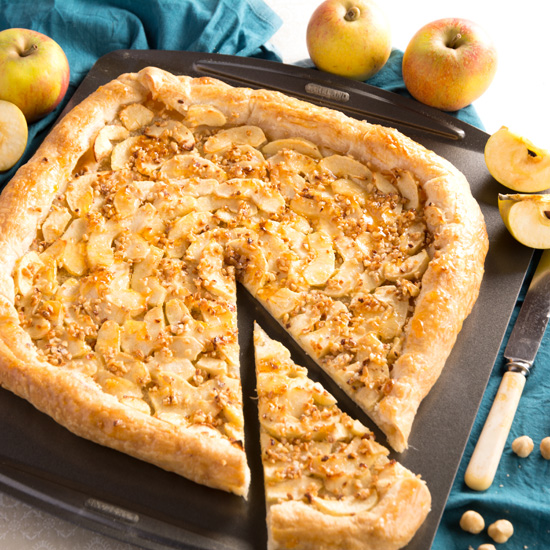 Holly-cooks-Apple-tart-with-marzipan-perfect-for-Easter-on-baking-tray