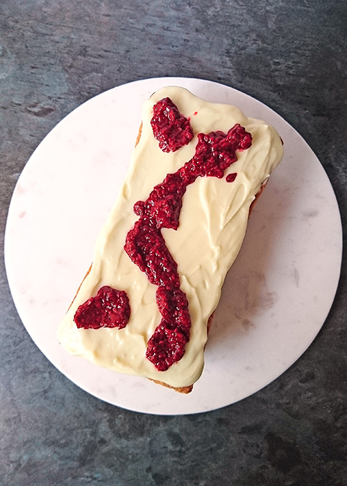 Why cakes sink in the middle and what you can do about it - Madeira raspberry and cream cheese cake recipe