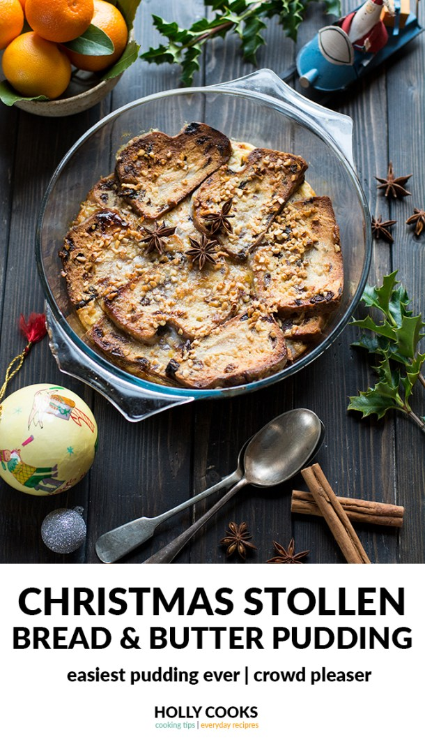 Christmas Stollen Bread and Butter Pudding, easy pudding, serves 4 - 6, bread, stollen, fruit, christmas, mazipan, easy pudding recipe, easy dessert recipe, christmas pudding recipe, holiday pudding, holiday dessert, marzipan, stollen, crowd please pudding, crowd pleaser dessert,