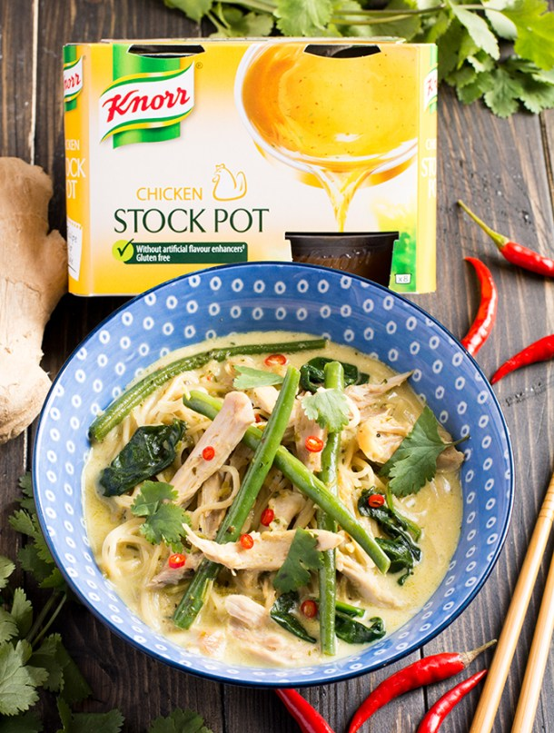 One pot Chicken Thai Noodle Soup with-Knorr