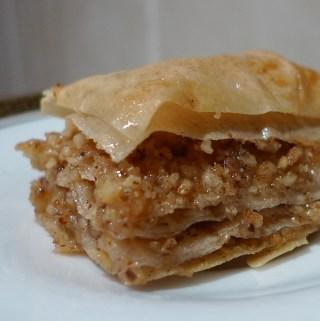 Lebanese walnut baklava with cinnamon and cloves recipe