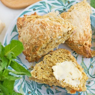 Parmesan and ras el hanout scones