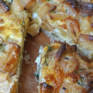 Roast parsnip tart recipe
