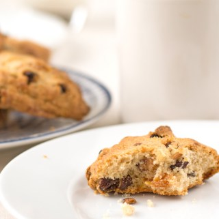 Sultana, apricot and walnut cookies