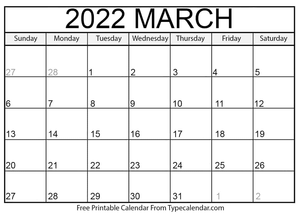 Calendar Template March 2022.Printable Calendar 2022 2022 Yearly Calendar With Holidays Horizontal Layout The Yearly Calendar 2022 Can Conveniently Be Downloaded In Portrait Or Landscape Page Orientation And Prints 12 Months Per Page Lasmusasdebenestarlocas