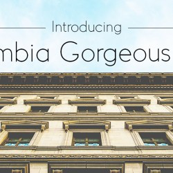 Introducing Columbia Gorgeous Light – The Newest Font in the Columbia Gorgeous family
