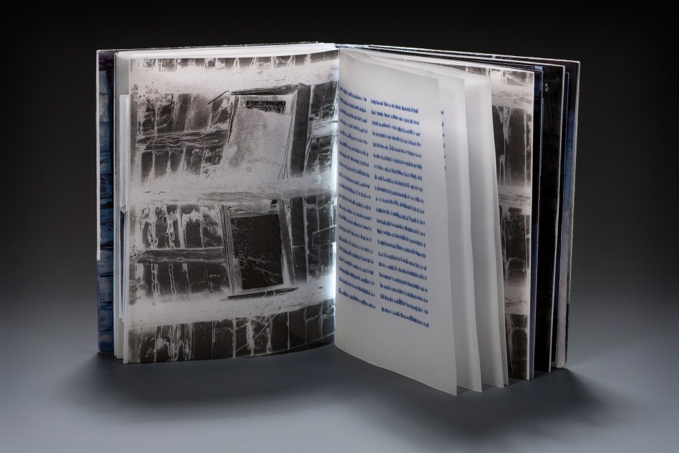 An example of Electronic Pop-up Book created using paper circuits, copper tape, and LEDs that is similar to what will be made during Type Club's upcoming workshop