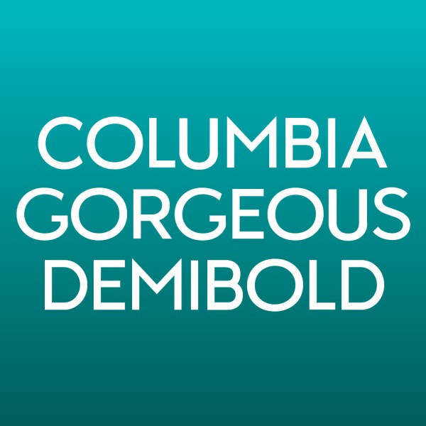 Product Image for Columbia Gorgeous DemiBold Font from Type Club