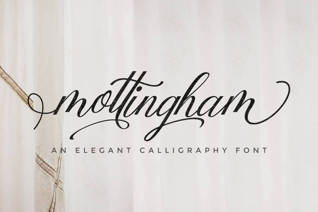 Mottingham Elegant Calligraphy Typeface