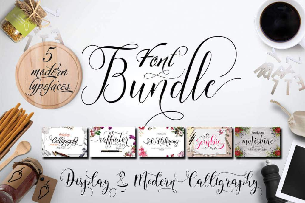 5 Elegant Calligraphy Fonts from Moriztype Studio