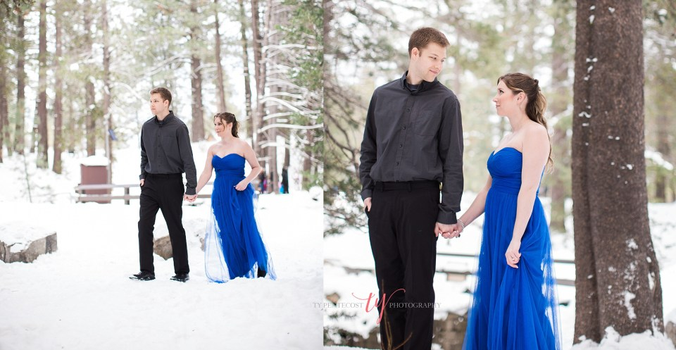 truckee california engagement pictures