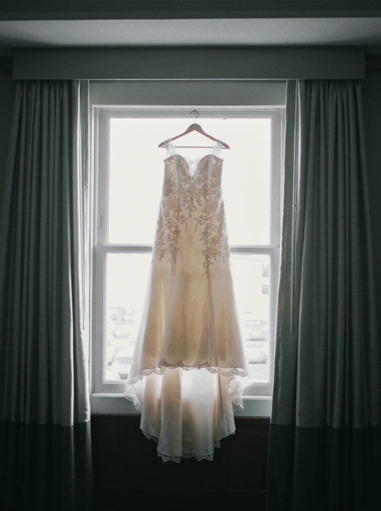 a wedding dress for a wedding at The Westin San Jose