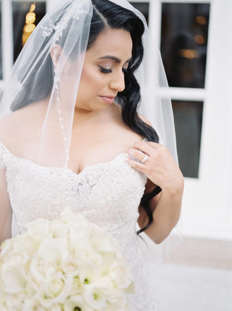 bridal portrait before wedding at The Westin San Jose
