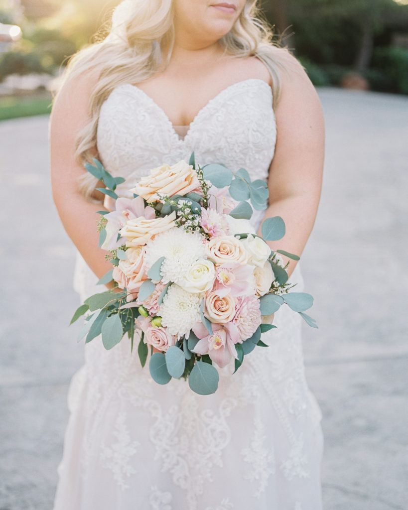 a wedding bouquet for an intimate estate wedding