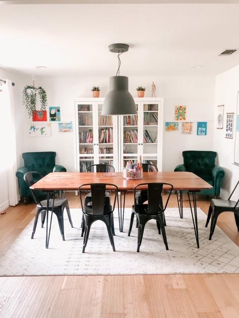 Laura James homeschool set up for her homeschooling tips