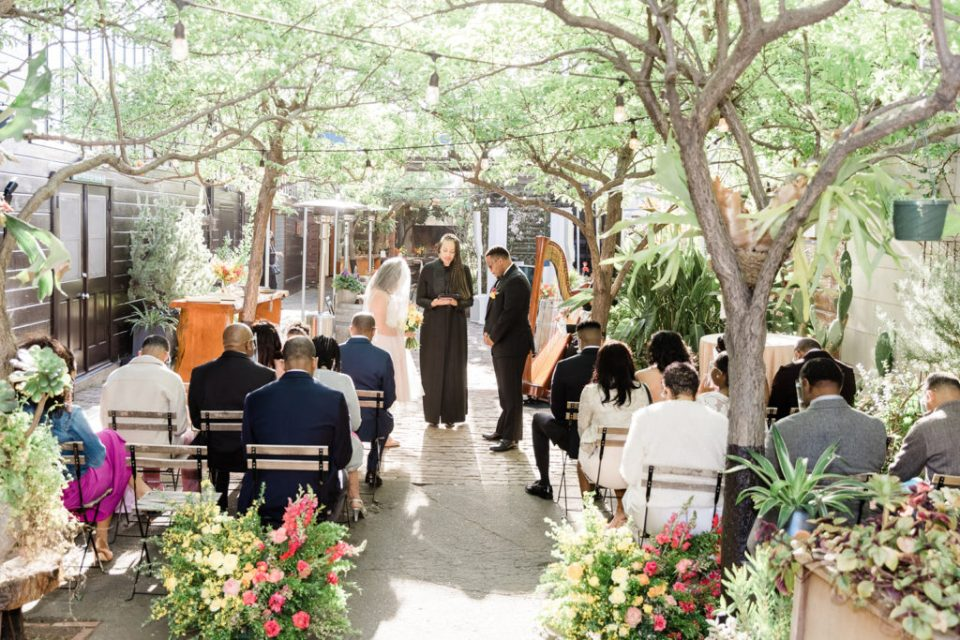a beautiful wedding ceremony at Stable Cafe in San Francisco