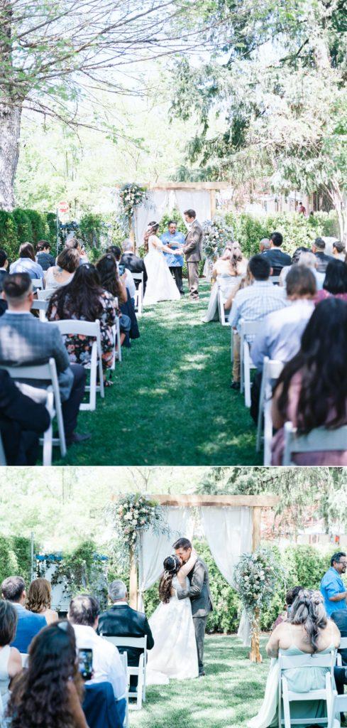 a ceremony at a Dunbar House wedding
