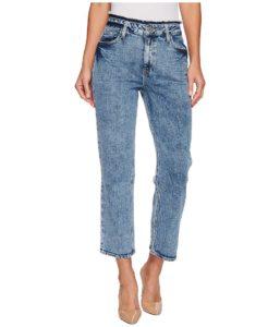 Acid Wash Cropped Jeans