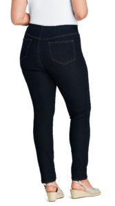 Plain dark wash jeans