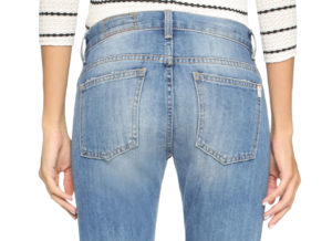 straight yoke on jeans