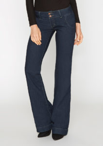 low rise trouser jeans with a wide waistband