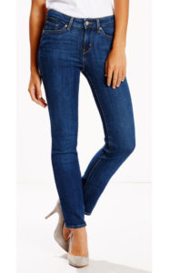 straight leg jeans made with stretch denim