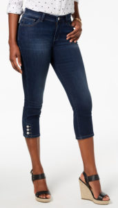 capri jeans with wedge shoes