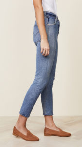 high rise crop ankle jeans