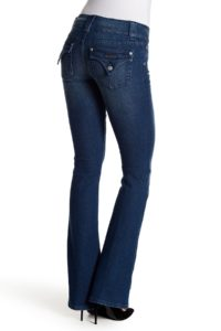 jeans with flap back pockets for a rectangle body shape