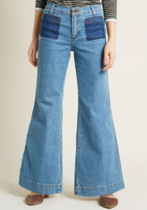 wide leg flared jeans