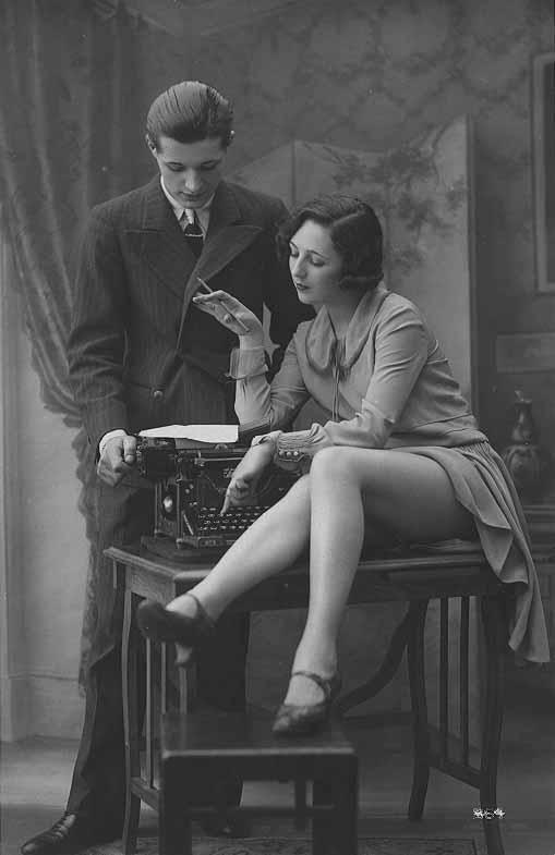 Underwood. Boss and Sexy Legs. Typewriter Museum