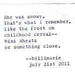 """Snowy"""