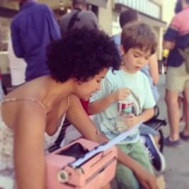 billimarie typewriter poetry pink kids playtime