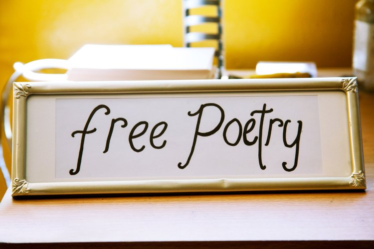 Free Poetry Sign by billimarie typewriter poetry calligraphy picture frame