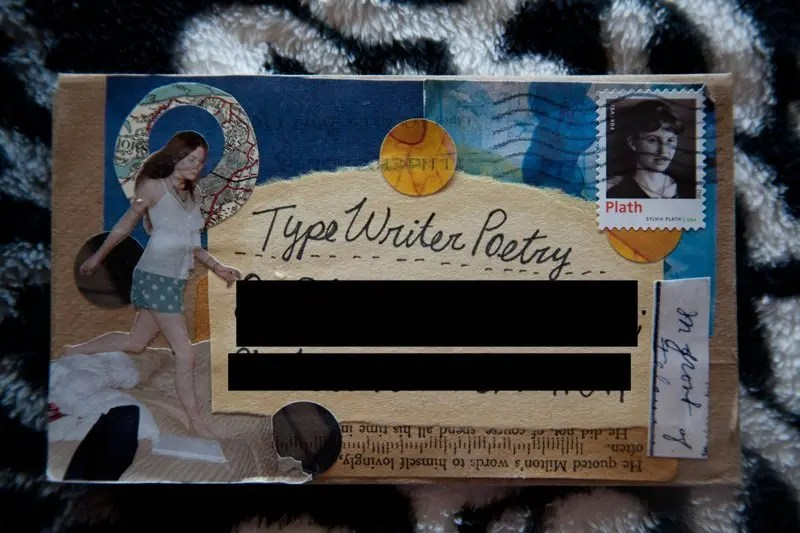 Typewriter Poetry Snail Mail - Envelope - Letter by Remi - Billimarie Lubiano Robinson A Peachy Keen Day