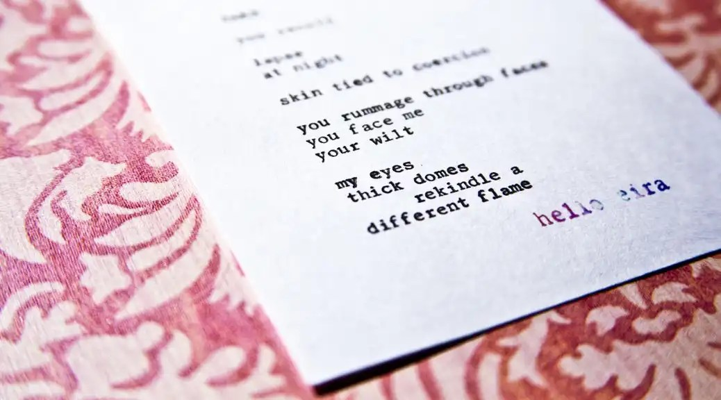 "Etsy Typewriter Poetry Poem Available for Purchase: ""Take″"