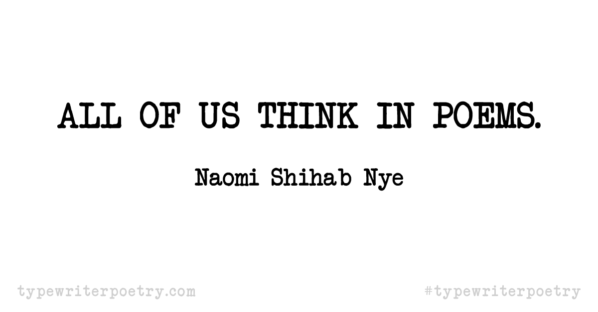 Day 8: Inspiration from Naomi Shihab Nye (National Poetry Month)