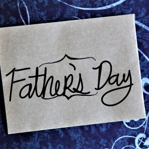 Typewriter Poetry: Father's Day envelope & blue background