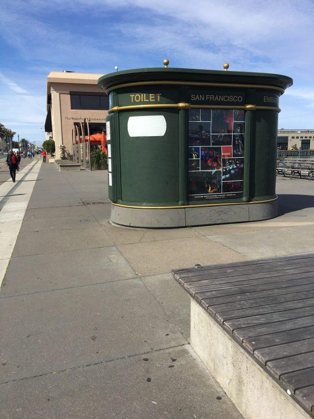 green toilet building San Francisco