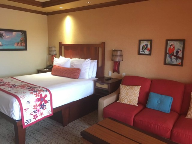 Disney Vacation Club Studio at the Polynesian Village Resort bed couch Pago Pago