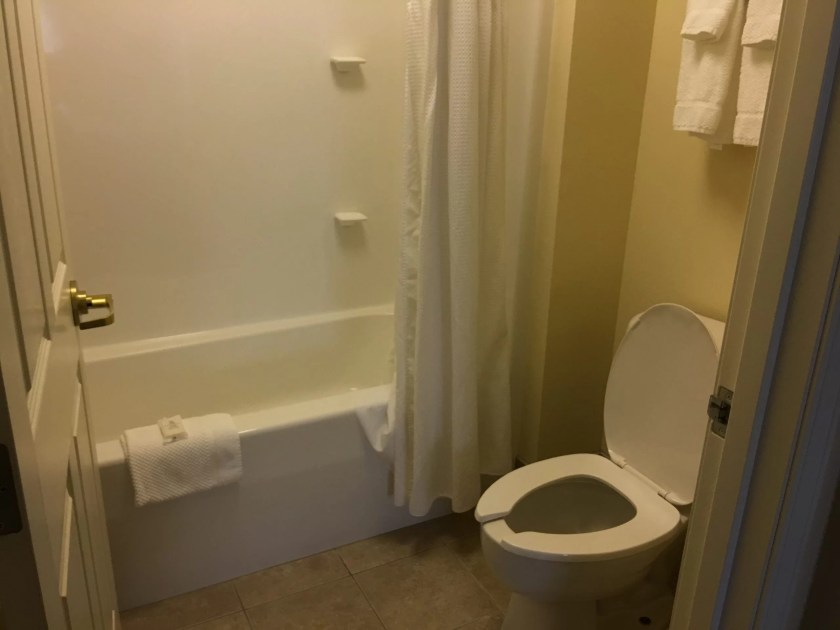 Staybridge Suites in Stow Ohio review bathroom