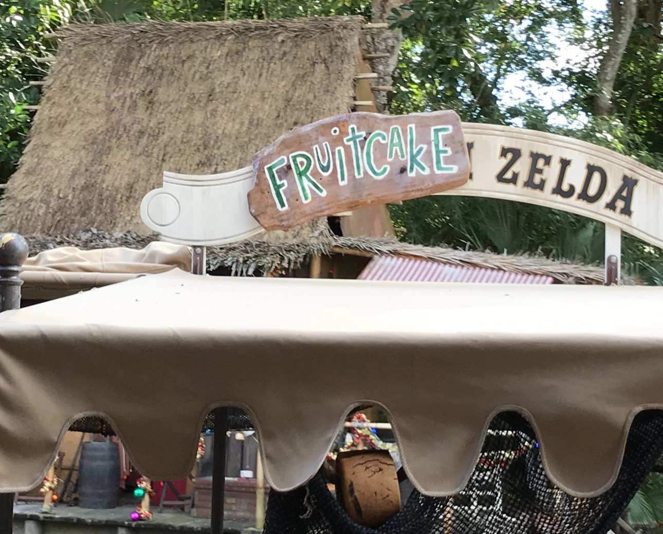 Fruitcake Zelda on Jingle Cruise in Magic Kingdom
