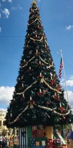 Christmas tree in Walt Disney World's Magic Kingdom