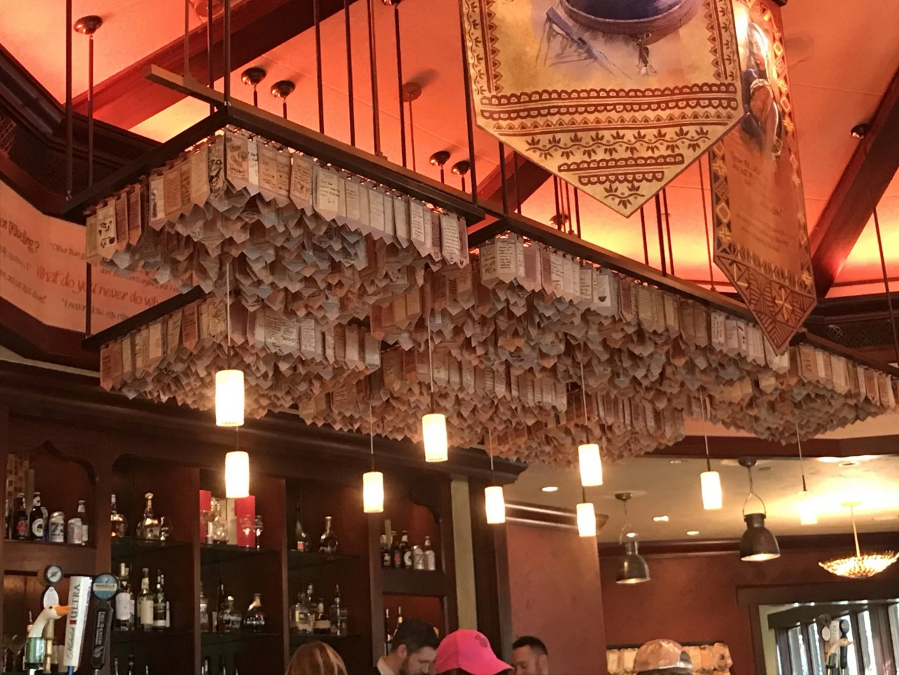 Nomad Lounge Mini-Banners over Bar
