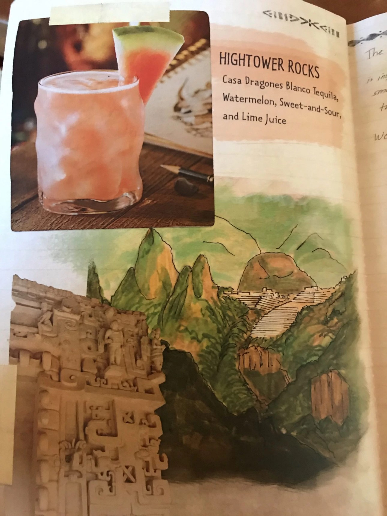 Hightower Rocks Cocktail Menu